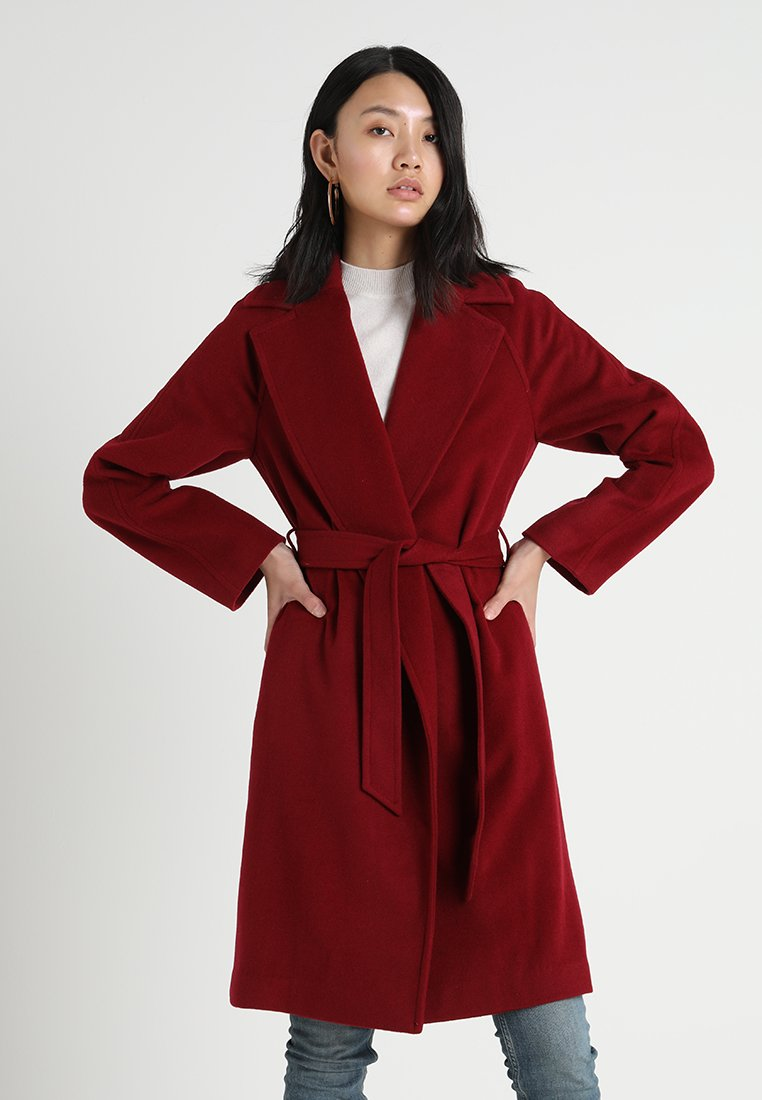 GANT - WRAP COAT - Classic coat - winter wine