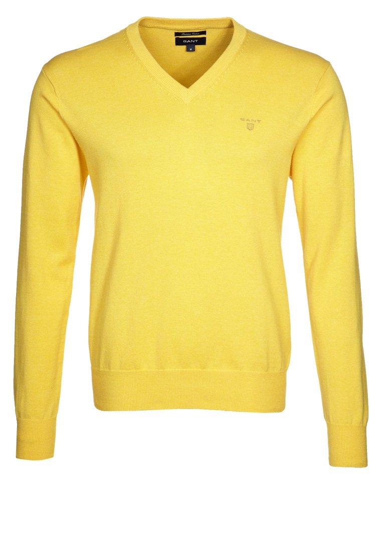 GANT - Strikkegenser - yellow melange