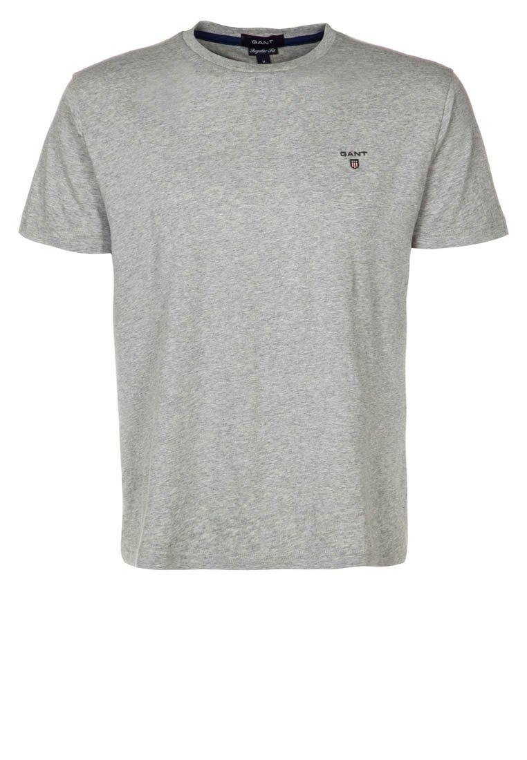 GANT - SOLID - T-Shirt basic - hellgrau meliert