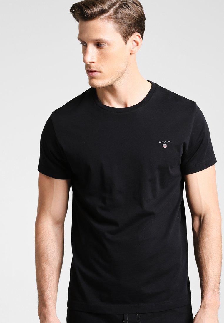 GANT - SOLID - Basic T-shirt - black