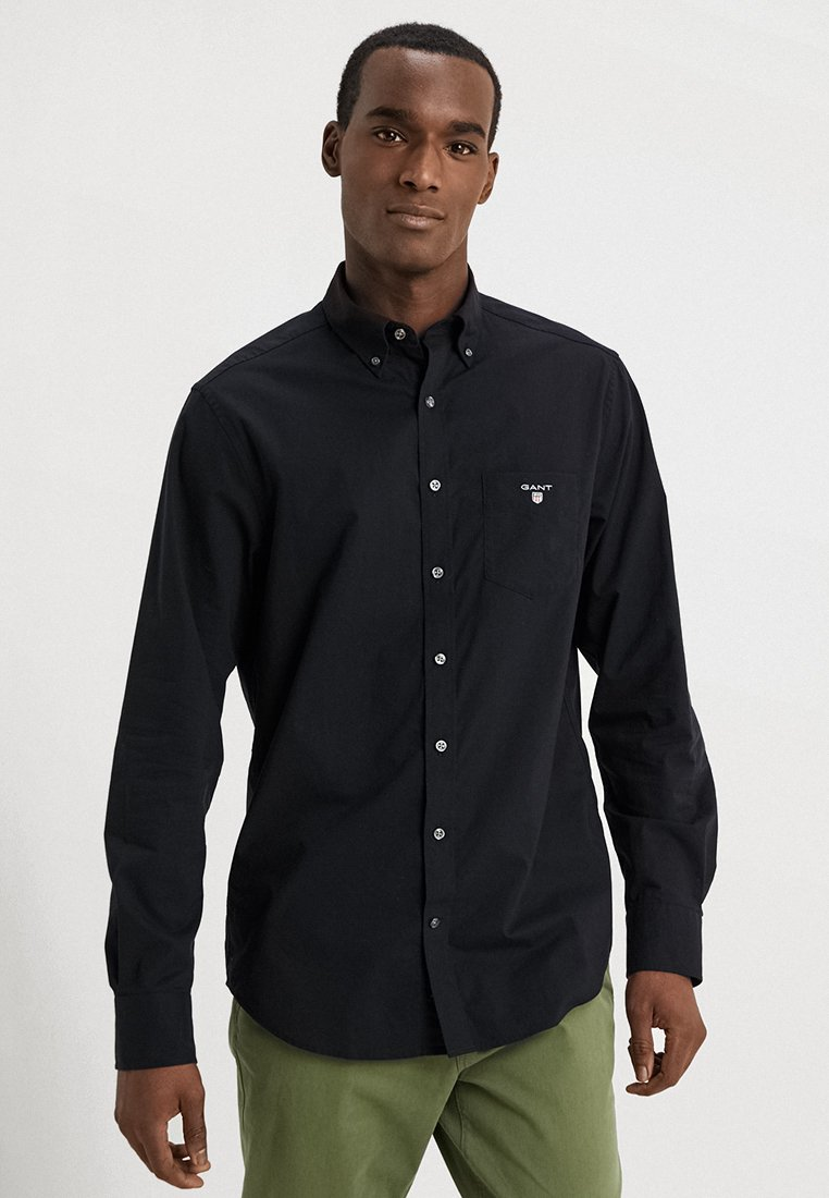 GANT - THE BROADCLOTH - Hemd - black