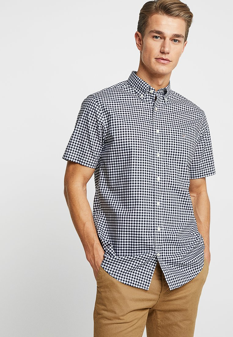 GANT - BROADCLOTH GINGHAM SLIM - Shirt - marine