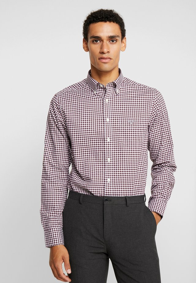 THE BROADCLOTH GINGHAM - Skjorta - port red