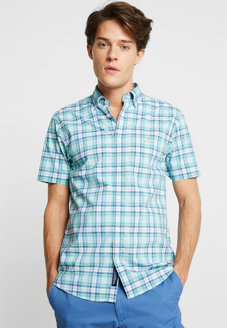 GANT - BROADCLOTH CHECK REGULAR FIT - Camicia - pool green
