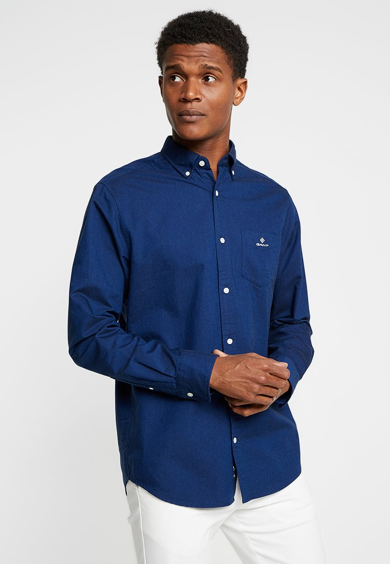 Gant Regular FitChemise Persian Blue Oxford Nwk8OPn0XZ