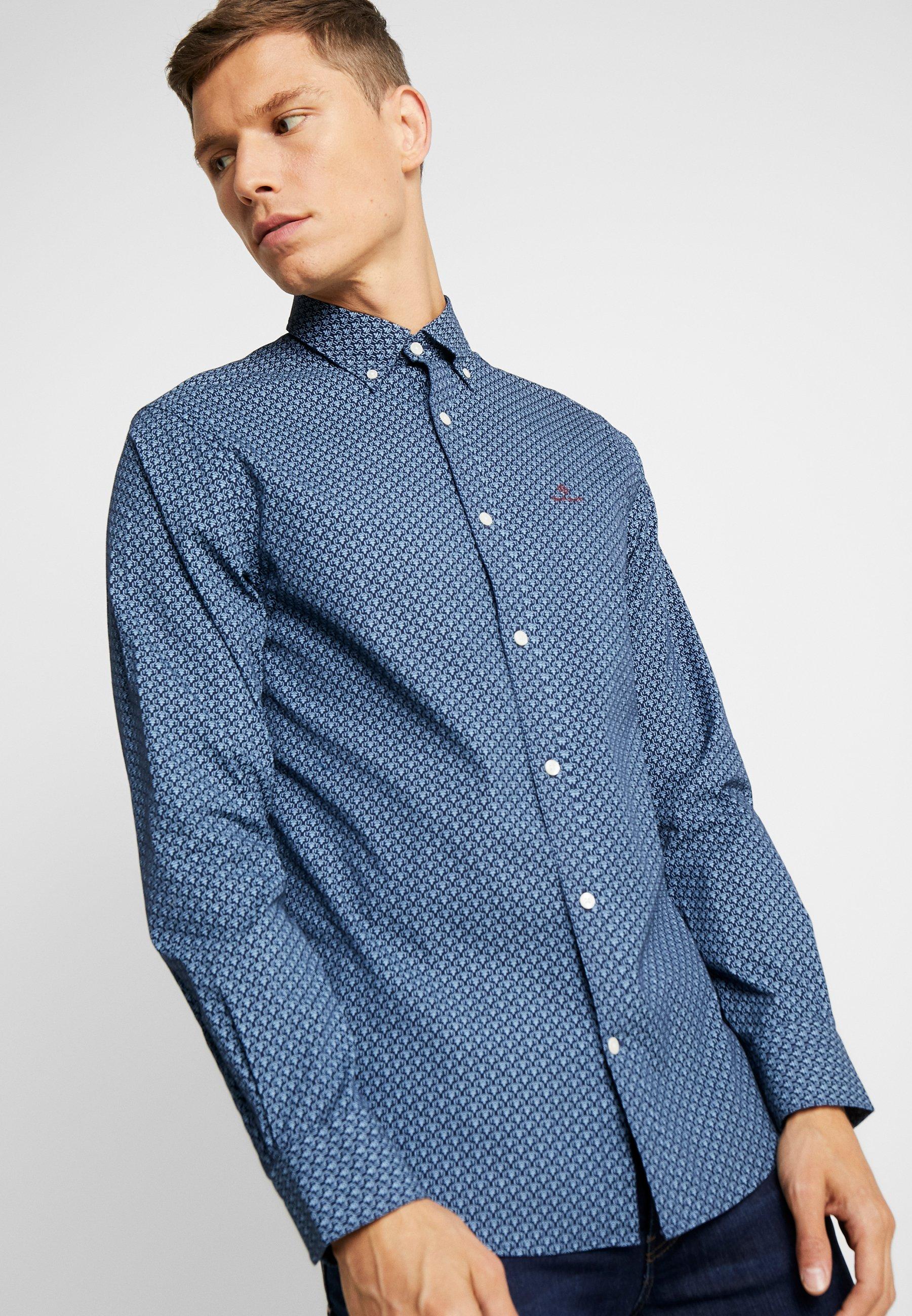 Gant Micro Print - Skjorta Marine WFoRrBZ