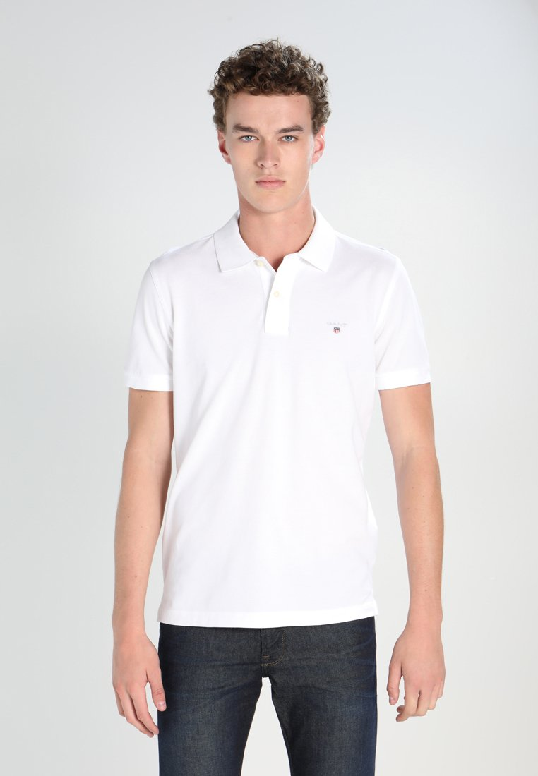 GANT - SOLID RUGGER - Polo - white