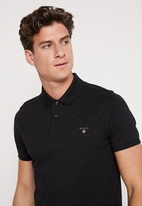 GANT - SOLID RUGGER - Polo - black - 3
