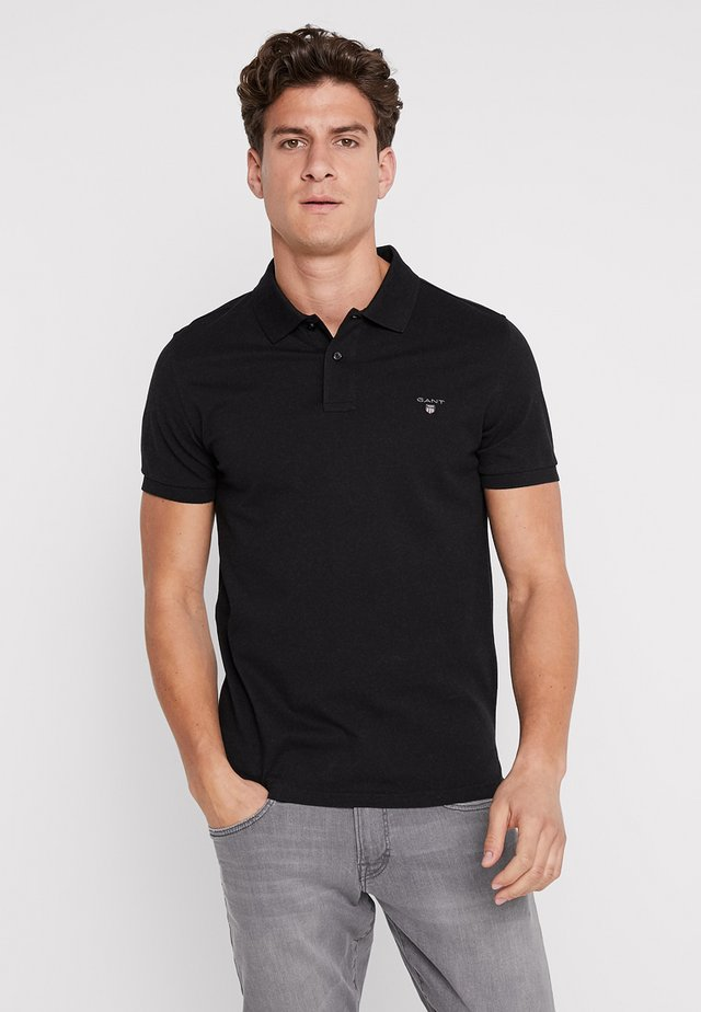 SOLID RUGGER - Polo - black