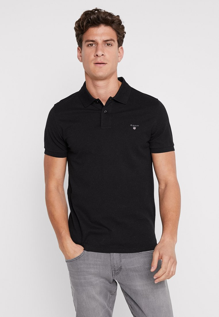 GANT - SOLID RUGGER - Polo - black