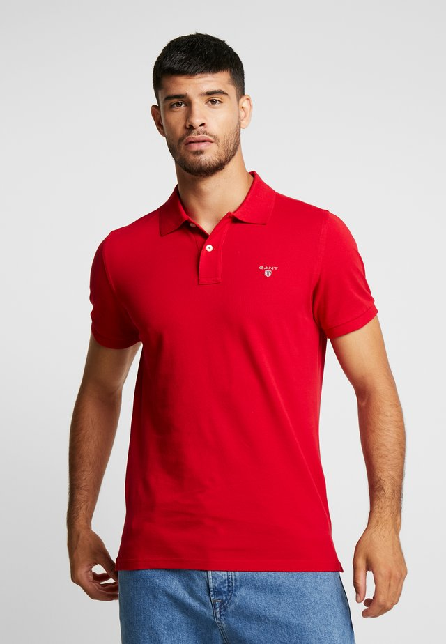 SOLID RUGGER - Polo - crimson red