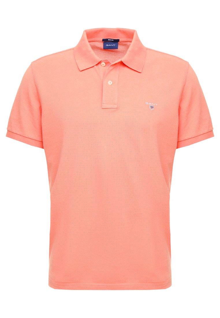 GANT SOLID RUGGER - Koszulka polo - coral/orange