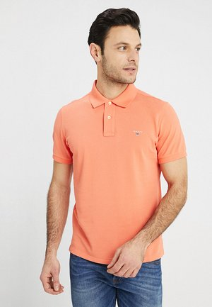 SOLID RUGGER - Koszulka polo - coral/orange