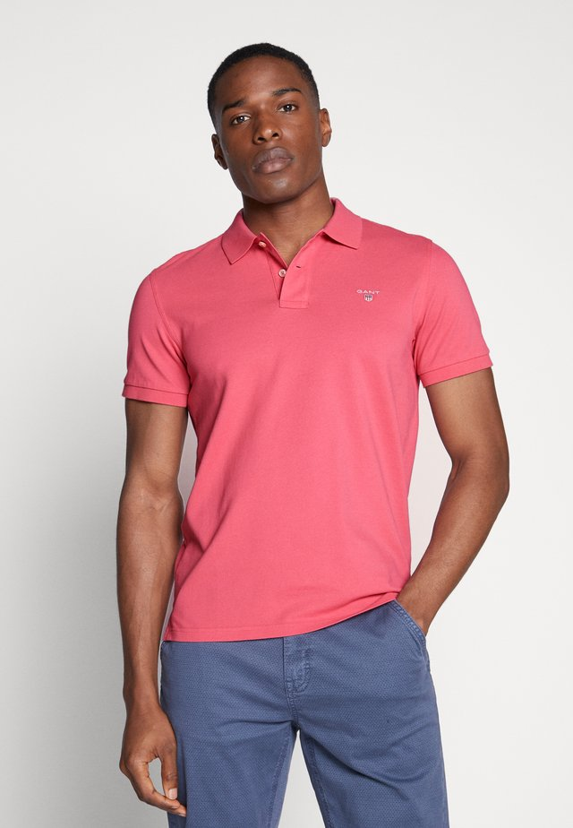 SOLID RUGGER - Polo - bright pink