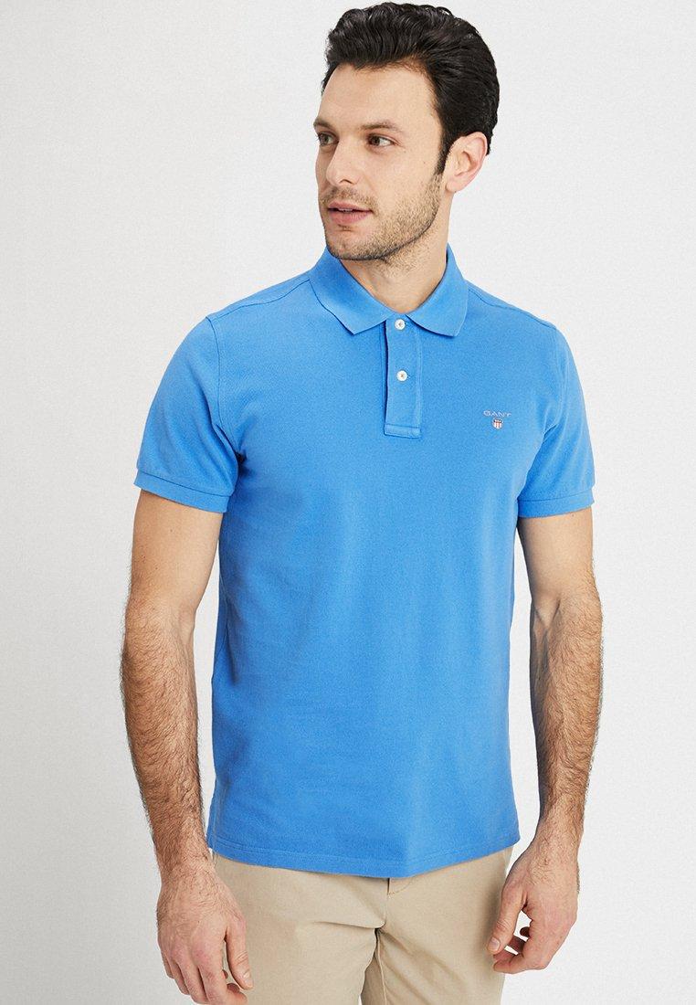 GANT - SOLID RUGGER - Polo shirt - palace blue