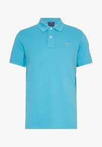 GANT - SOLID RUGGER - Polo - light blue