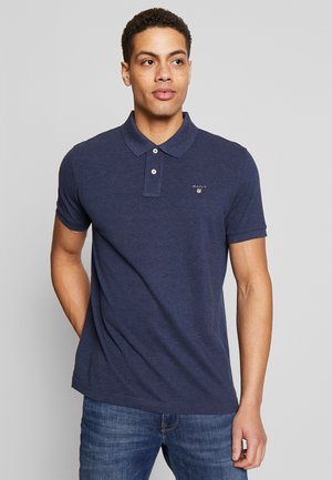 SOLID RUGGER - Polo shirt - marine melange