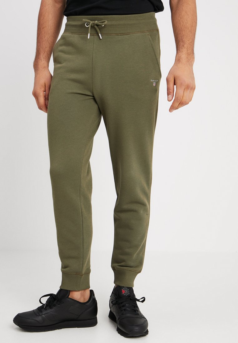 GANT - THE ORIGINAL PANT - Träningsbyxor - field green