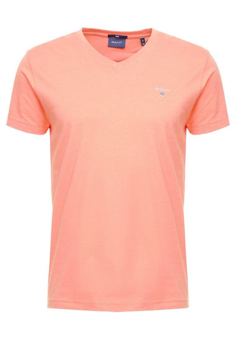 GANT THE ORIGINAL SLIM FIT - T-shirt basic - coral orange