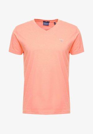 THE ORIGINAL  SLIM FIT - T-shirt basic - coral orange