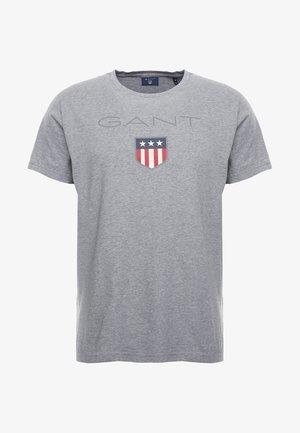 SHIELD - Print T-shirt - grey melange