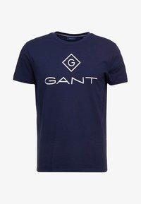 GANT - LOCK UP  - T-shirt med print - evening blue - 4