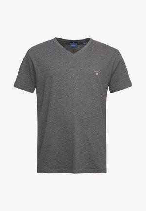 THE ORIGINAL SLIM V NECK  - Print T-shirt - anthracit