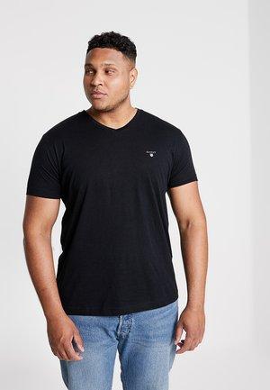 THE ORIGINAL SLIM V NECK  - T-shirt print - black