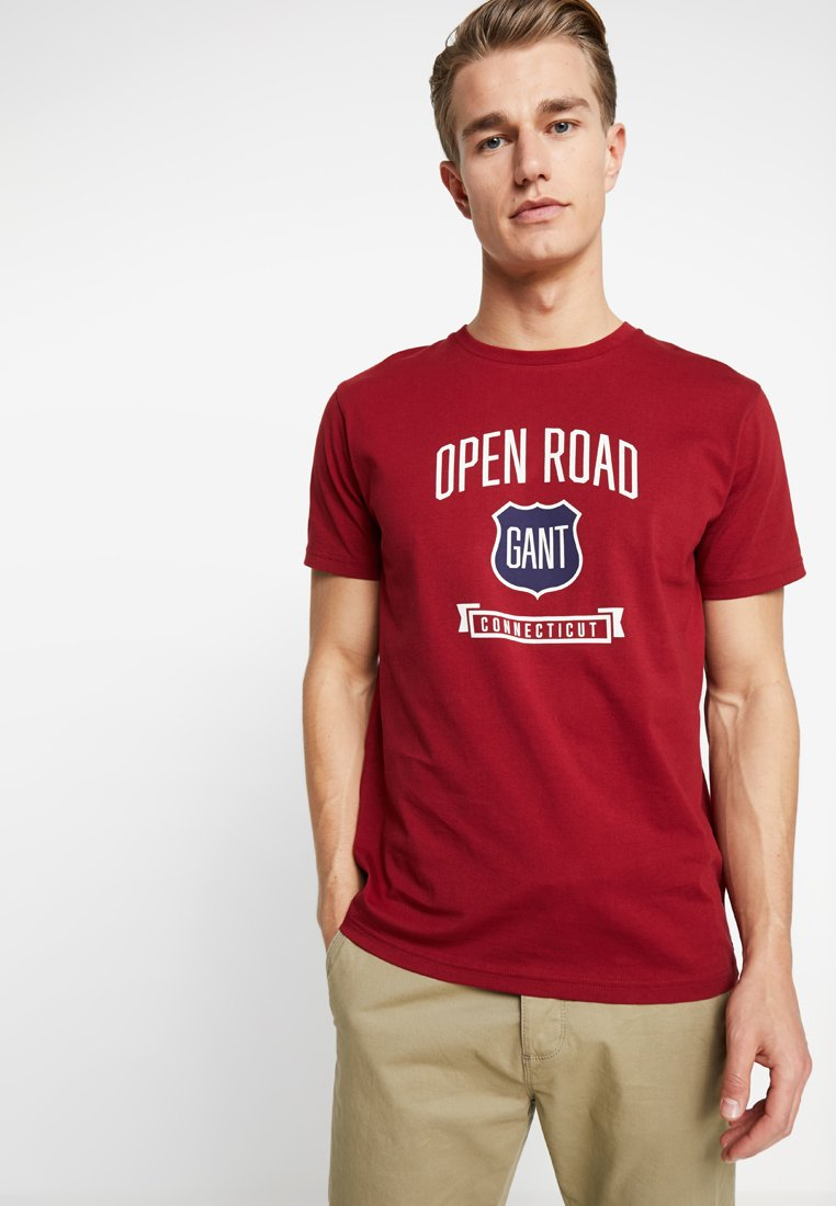 GANT - GRAPHIC  - T-Shirt print - mahogny red