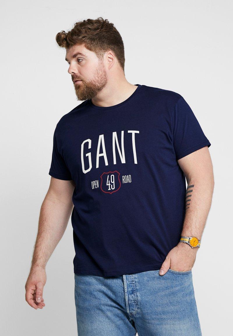 GANT - GRAPHIC - Camiseta estampada - evening blue