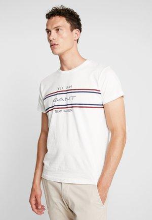STRIPE  - Print T-shirt - eggshell