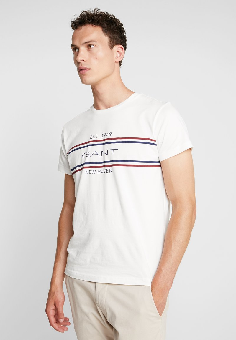 GANT - STRIPE  - Camiseta estampada - eggshell