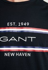 GANT - STRIPE  - T-shirt imprimé - black - 4