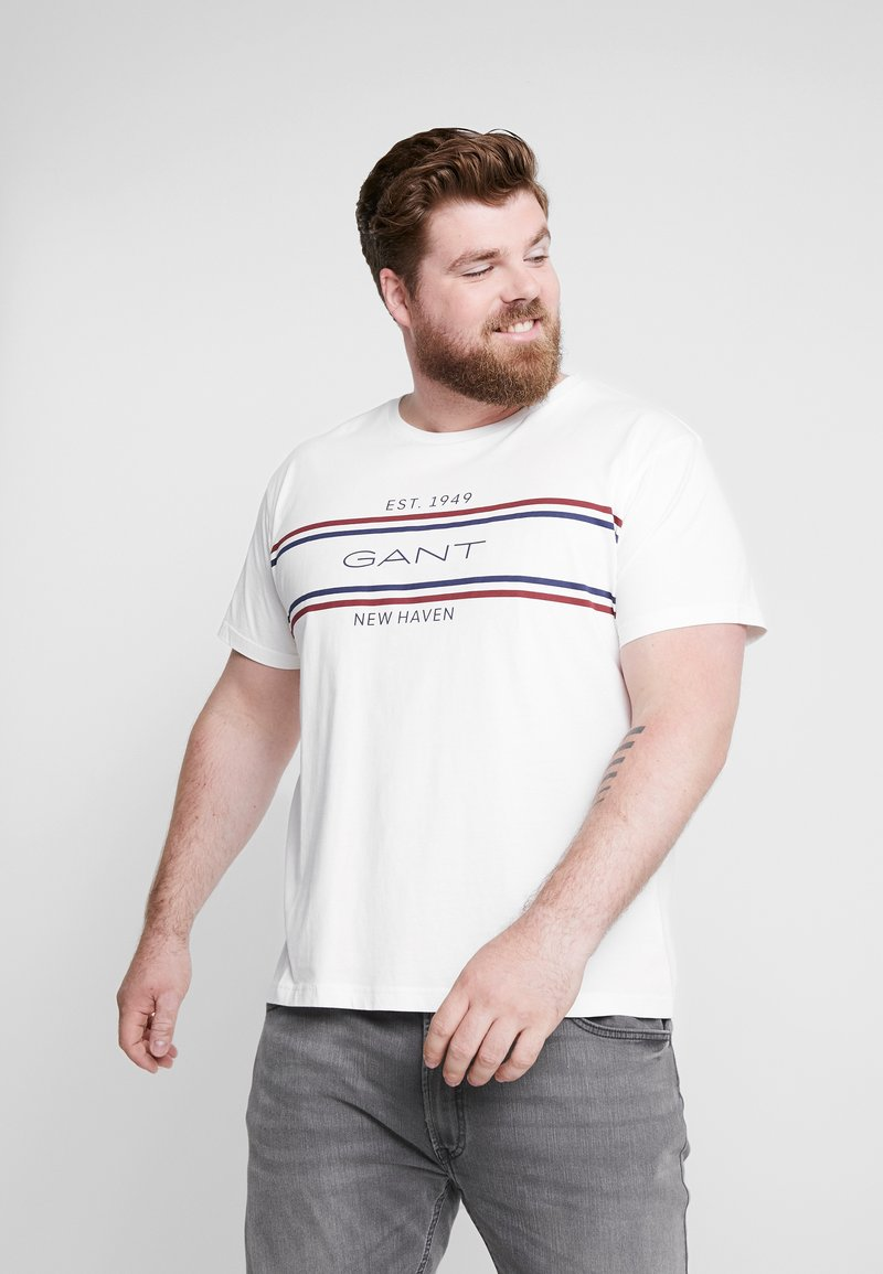 GANT - STRIPE - T-Shirt print - eggshell