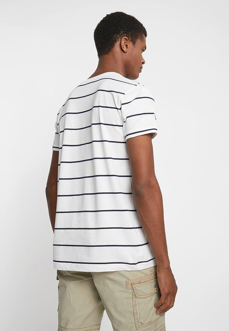 GANT BRETON STRIPE - Camiseta estampada eggshell