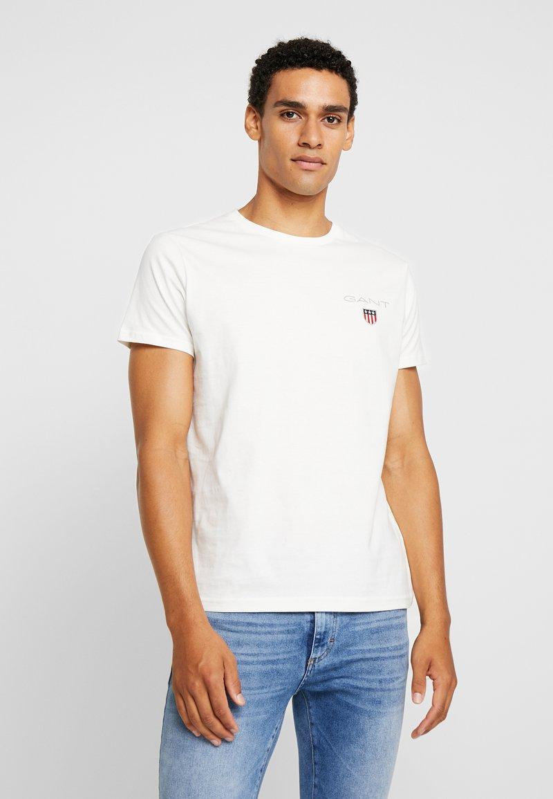 GANT - MEDIUM SHIELD - T-shirts med print - eggshell