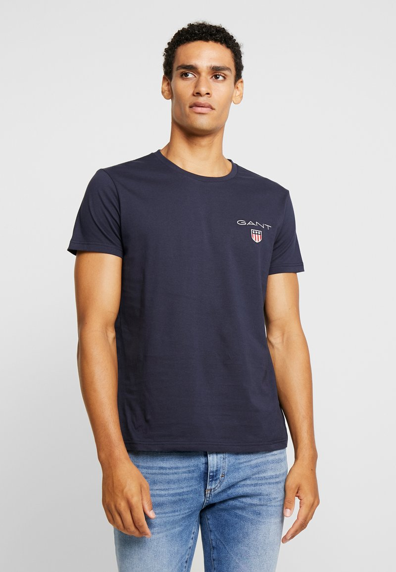 GANT - MEDIUM SHIELD - Camiseta estampada - evening blue