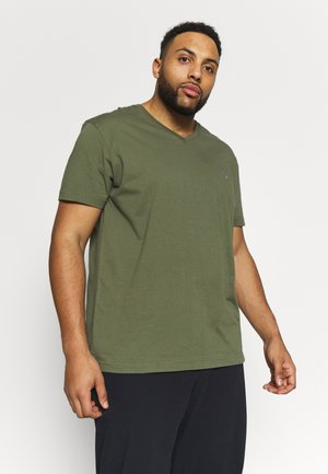 PLUS THE ORIGINAL SLIM V-NECK - Camiseta básica - olive