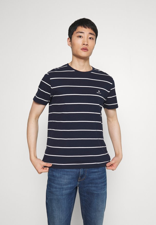 BRETON STRIPE - T-shirt z nadrukiem - evening blue