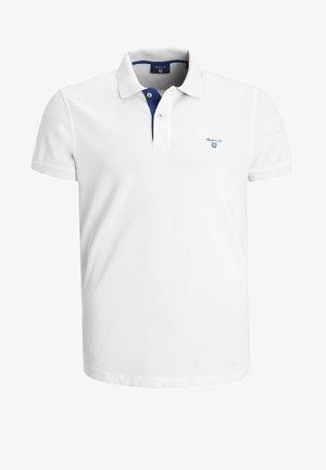 CONTRAST COLLAR RUGGER - Poloskjorter - white