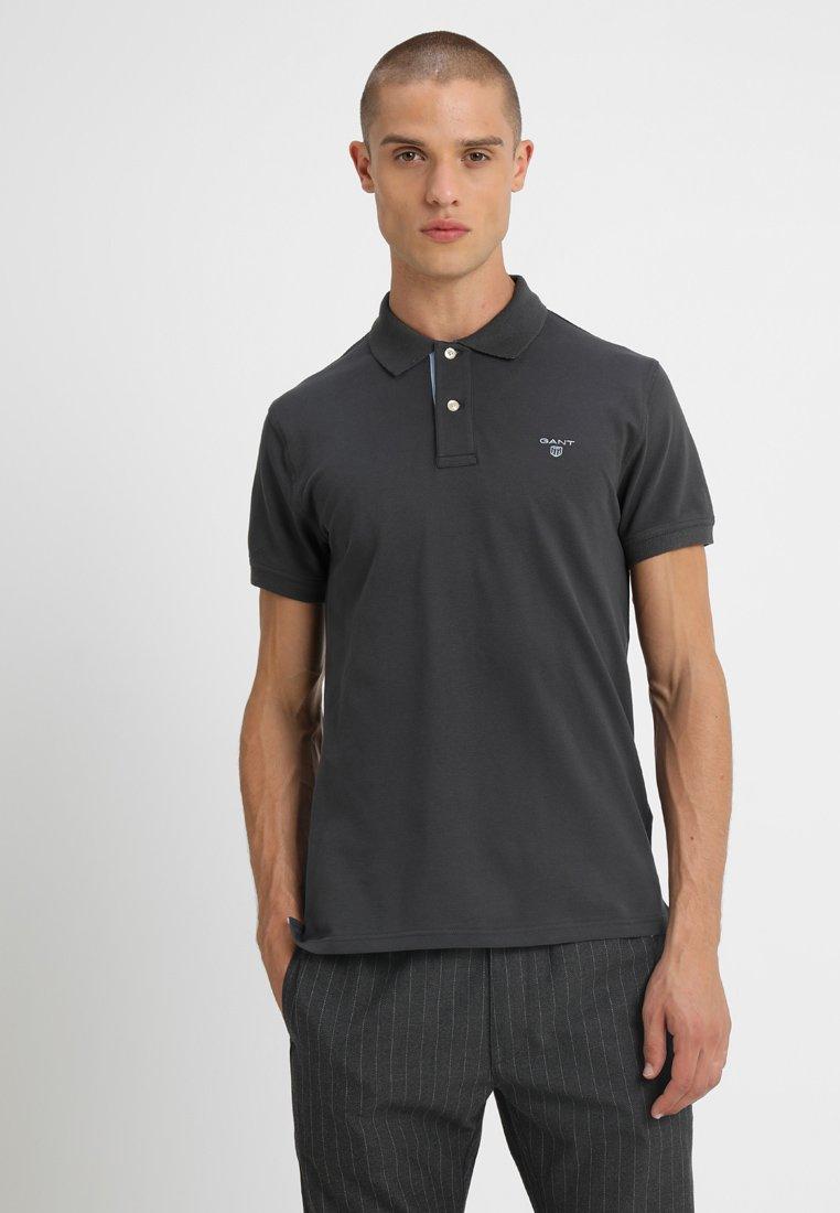 GANT - CONTRAST COLLAR - Poloshirt - dark graphite