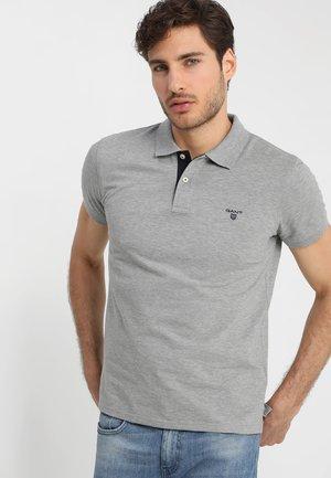 CONTRAST COLLAR RUGGER - Poloshirt - grey melange