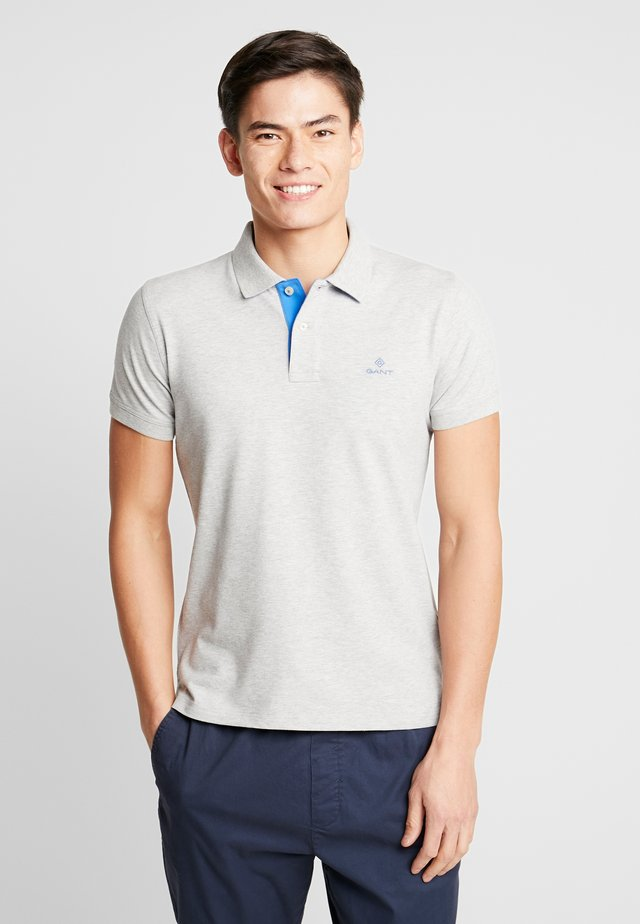 CONTRAST COLLAR RUGGER - Polo - light grey melange