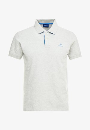 Polo shirt - light grey melange