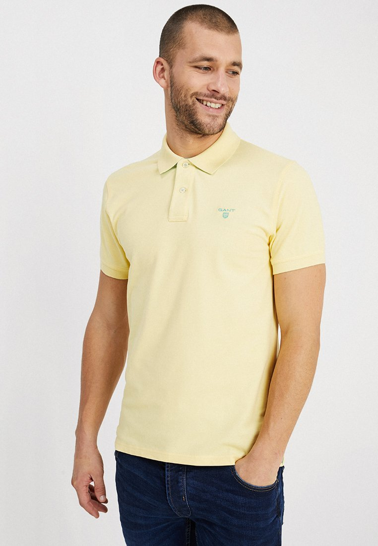 GANT - CONTRAST COLLAR - Poloshirt - lemon