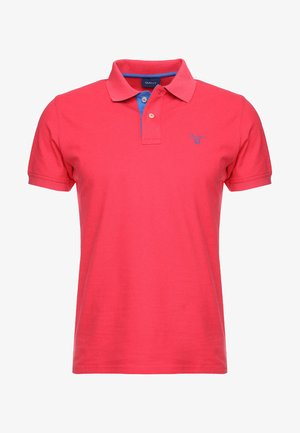 CONTRAST COLLAR RUGGER - Polo shirt - watermelon red