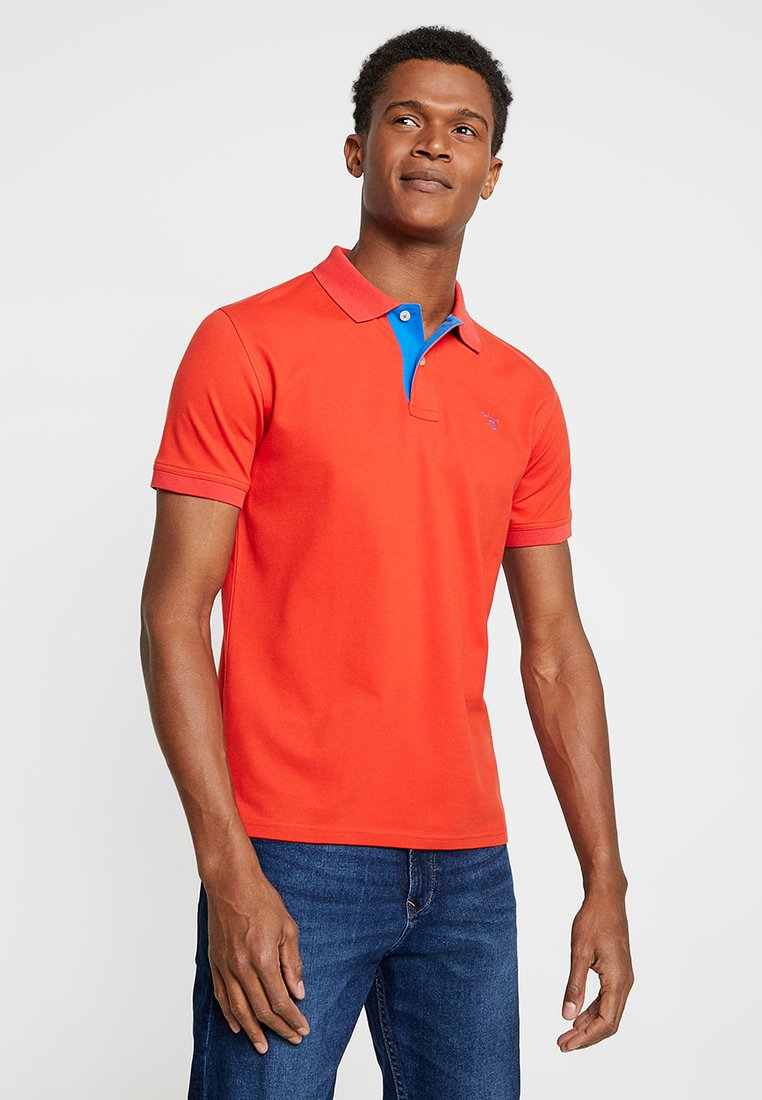 GANT - CONTRAST COLLAR - Poloshirt - blood orange