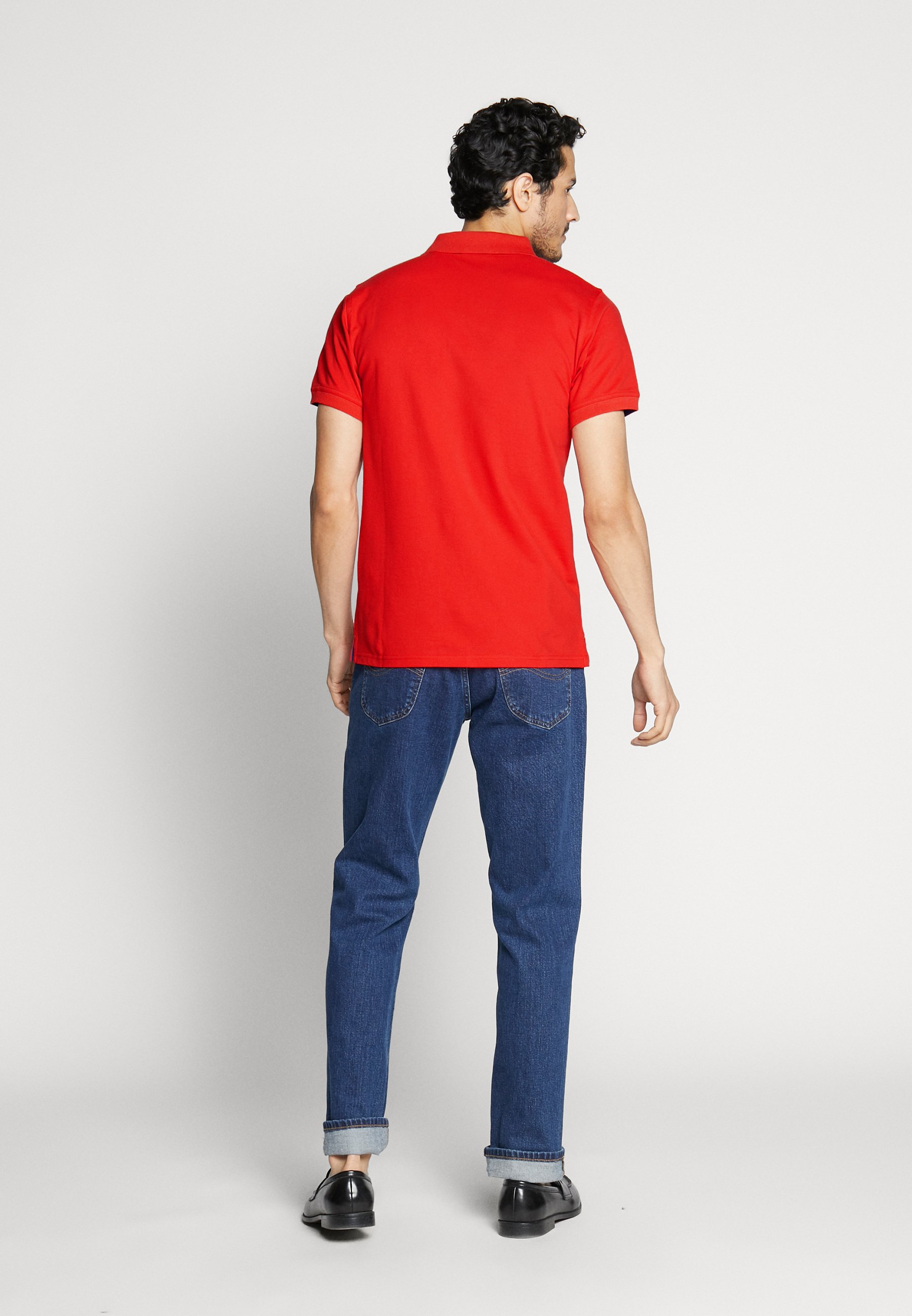 GANT CONTRAST COLLAR RUGGER - Koszulka polo - bright red