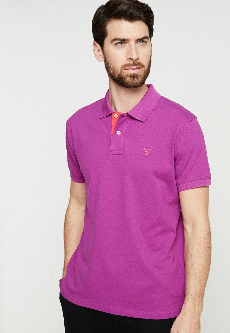 GANT - CONTRAST COLLAR - Poloshirt - purpur