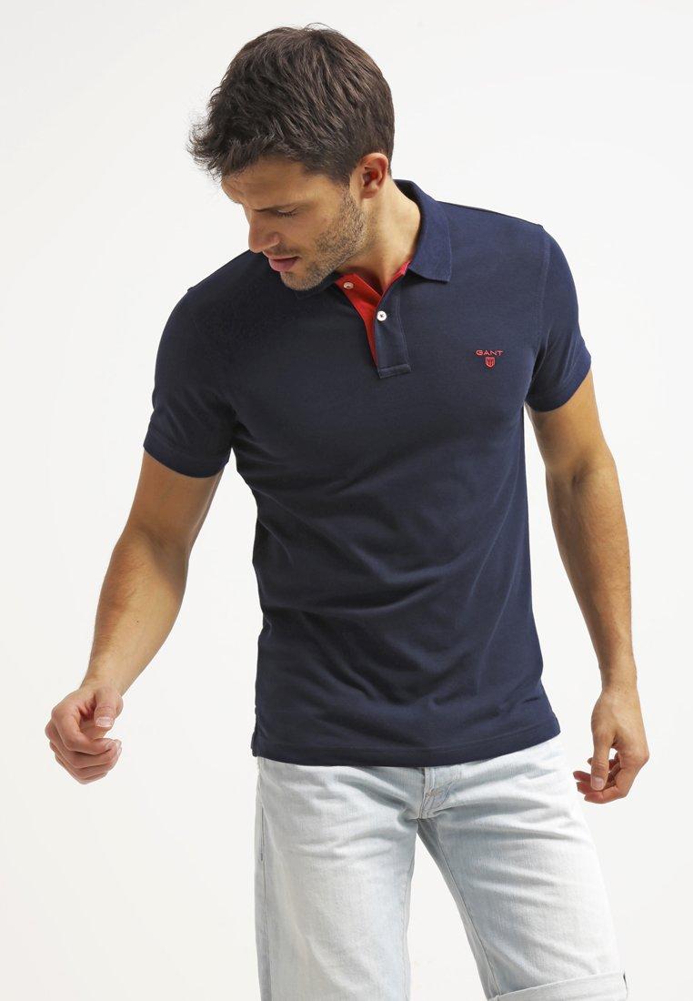 GANT - CONTRAST COLLAR - Poloshirt - thunder blue